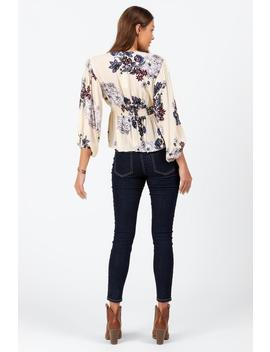 Edie Floral Button Blouse by Francesca's