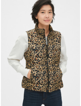 Cold Control Lightweight Print Puffer Vest by Gap