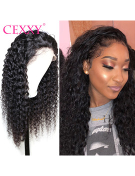 """Cexxy 13x6 Lace Front Human Hair Wigs Indian Curly Human Hair Wig Deep Wave Wig Pre Plucked With Baby Hair 8"""" 30 Inch Lace Wig by Ali Express.Com"""