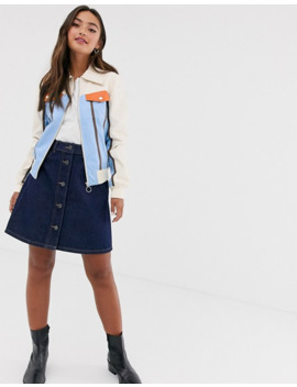 Glamorous Trucker Jacket With Contrast Panels by Glamorous