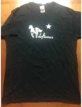 Vintage Deftones White Pony T Shirt Size Men's Large Black Faded Band by Fruit Of The Loom