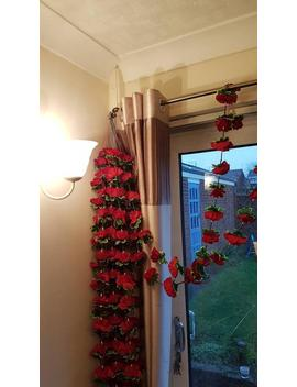 Artificial Rose Garland 6 Feet Traditional Decor Wedding Mehndi And Party 1 Pc by Etsy