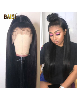 Baisi 360 Lace Frontal Wig Lace Front Human Hair Wigs With Pre Plucked Hairline Human Hair Wig Straight Wigs Brazilian Hair by Ali Express.Com