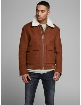 Wool Bomber Jacket Rollneck Knitted Pullover  Wool Bomber Jacket  Marco Connor Akm773 Dg Chinos  Speed Hooks Leather Boots by Jack & Jones