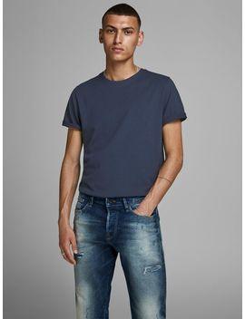 Organic Cotton T Shirt Comfort Fit Denim Jacket  Organic Cotton T Shirt  Leather Boots by Jack & Jones