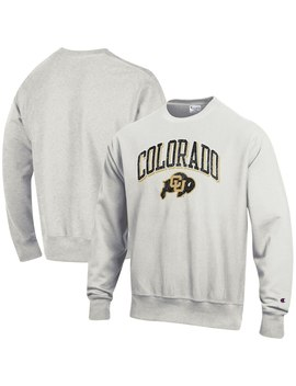 Colorado Buffaloes Champion Arch Over Logo Reverse Weave Pullover Sweatshirt   Gray by Champion