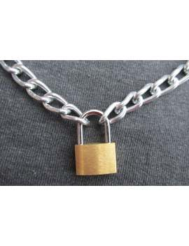 Punk Padlock Necklace by Etsy