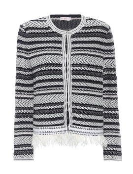 Payton Striped Cotton Cardigan by Tory Burch