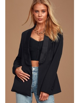How Lovely Black Blazer by Lulus