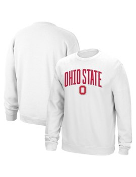 Ohio State Buckeyes Modern Arch Sweatshirt   White by Scarlet & Grey