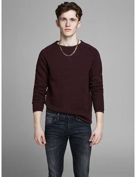 Textured Knitted Pullover by Jack & Jones