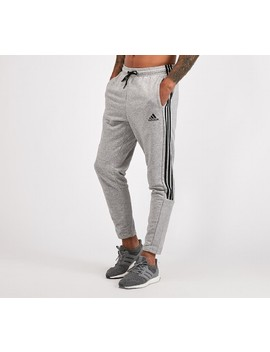 Three Stripe Fleece Pant | Medium Grey Heather by Adidas