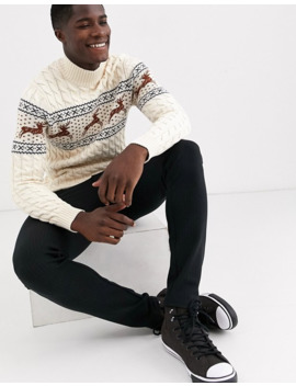 Selected Homme Christmas High Neck Jumper by Selected Homme