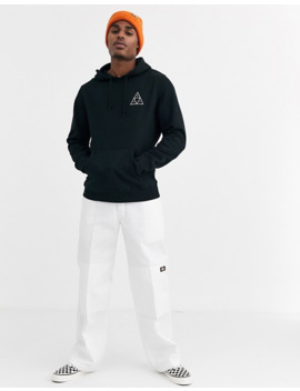 Huf Dystopia Hoodie With Back Print In Black by Huf
