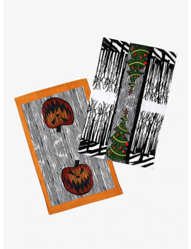 The Nightmare Before Christmas Christmas & Halloween Tree Kitchen Towel Set by Hot Topic