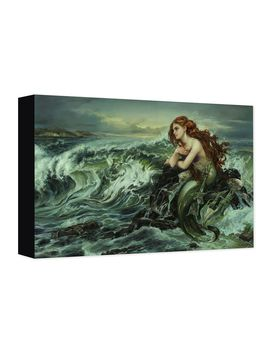 Ariel ''drawn To The Shore'' Giclée On Canvas By Heather Edwards | Shop Disney by Disney