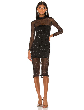 Brittany Embellished Midi Dress In Black by Nbd