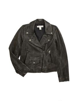 Washed Leather Moto Jacket by Treasure & Bond