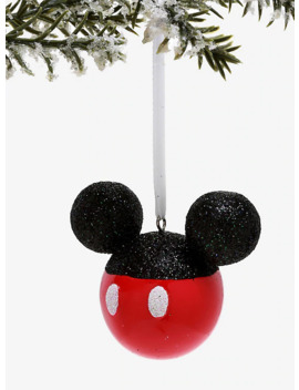 Disney Mickey Mouse Glitter Ornament by Hot Topic