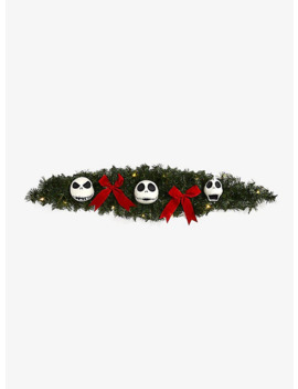 The Nightmare Before Christmas Jack Face Light Up Garland by Hot Topic