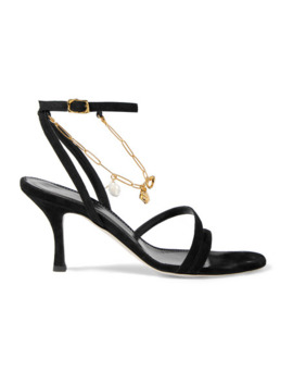 The Wondering Traveller Embellished Suede Sandals by Alighieri