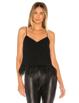Narcissa Drapey Crepe Top In Black by Cinq A Sept
