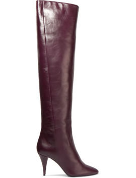 Kiki Leather Over The Knee Boots by Saint Laurent