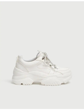White Chunky Trainers by Pull & Bear