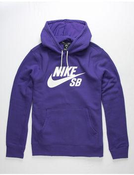 Nike Sb Icon Purple Mens Hoodie by Nike Sb