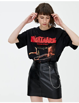 A Nightmare On Elm Street T Shirt by Pull & Bear