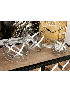 3 Piece Fold Orb Sculpture Set by Williston Forge