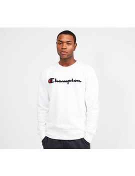 Linear Logo Sweatshirt | White / Black / Red by Champion
