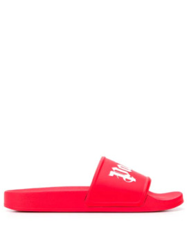 Branded Toe Straps Slides by Palm Angels