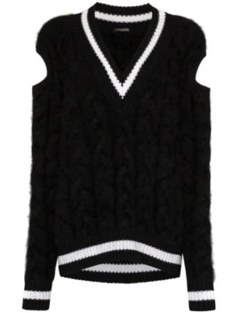 Chunky Cable Knit Sweater by Balmain