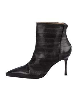 Eelskin Pointed Toe Boots by Manolo Blahnik