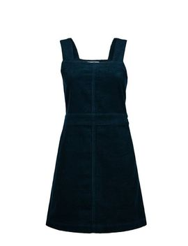 Petite Teal Square Neck Pinafore Dress by Dorothy Perkins