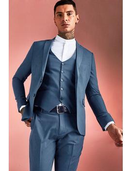 Plain Skinny Fit Suit Jacket by Boohoo