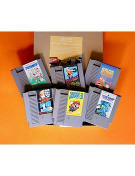 Hand Picked Mystery Gaming Gift Box   Nes Nintendo Entertainment System by Etsy