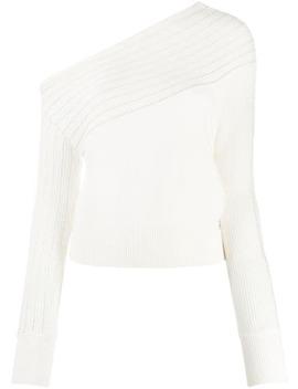 свитер с открытыми плечами и заклепками by Patrizia Pepe
