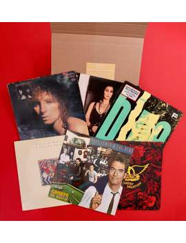 Hand Picked Mystery Vinyl Lp Gift Box   Hits From The 80s   Rock, Synth Pop, Heavy Metal, Post Punk, New Wave by Etsy