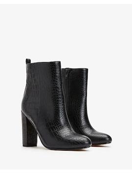 Textured Block Heel Booties by Express