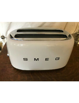 Smeg 2 Slice Wide Slot Toaster Nib White by Ebay Seller