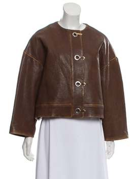 Cropped Leather Jacket W/ Tags by Marni