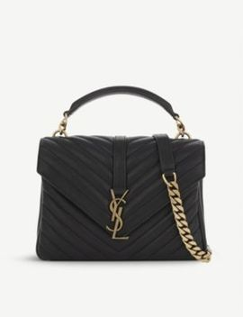 Monogram Coll?Ge Small Quilted Leather Satchel by Saint Laurent
