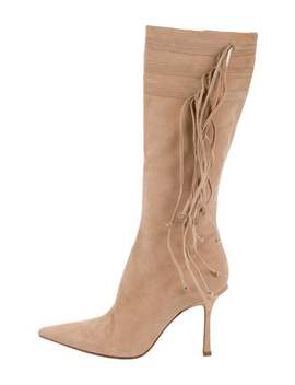 Suede Pointed Toe Boots by Jimmy Choo