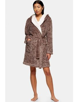 Mink Tiger Textured Dressing Gown by Topshop