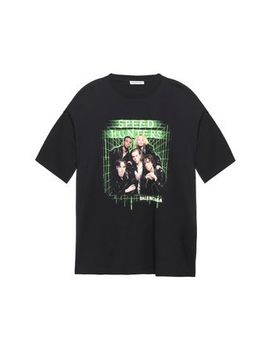 Oversized Printed Cotton Jersey T Shirt by Balenciaga