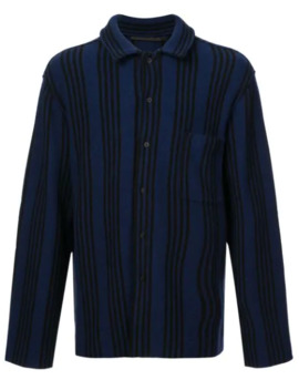 Striped Long Sleeve Shirt by Haider Ackermann