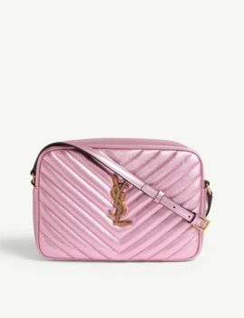 Lou Quilted Leather Shoulder Bag by Saint Laurent