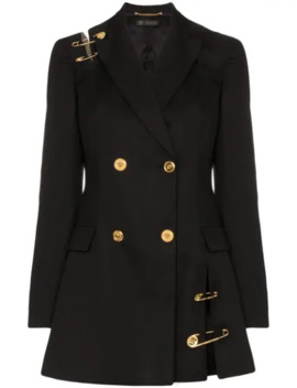 Safety Pin Double Breasted Blazer Dress by Versace